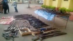 45 assorted rifles, hundreds of ammunition recovered as military raid Nasarawa militia camp
