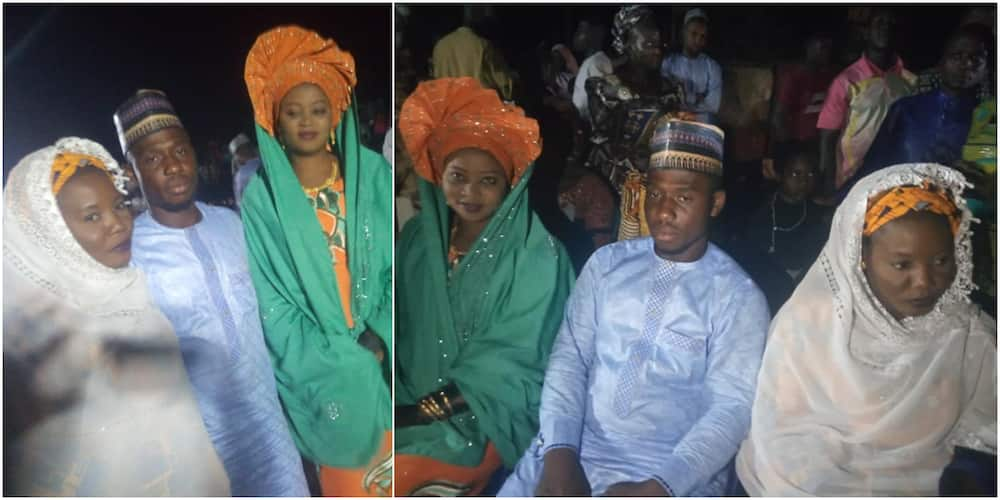 Massive Reactions as Nigerian Man Marries 2 Wives on Same Day, Adorable Photos Light Up Social Media