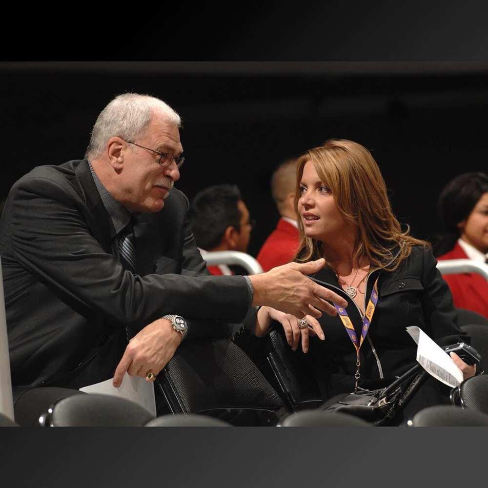 Jeanie Buss and Phil Jackson