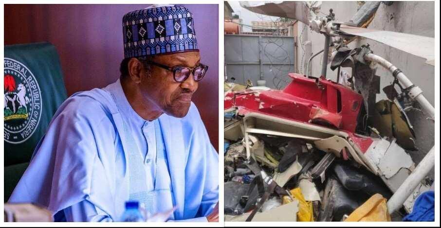 Yanzu-yanzu: Buhari ya yi magana kan fadowar jirgi mai ungulu a jihar Lagos