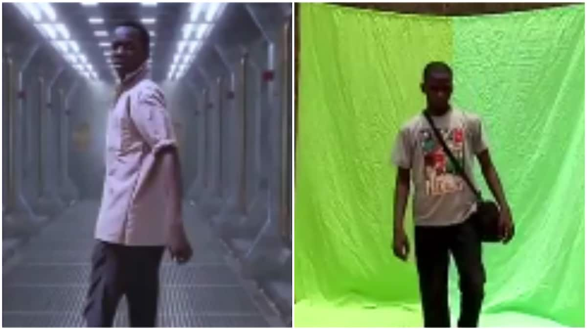 Meet Nigerian students who make amazing sci-fi movies with a small smart mobile phone and green screen (video)