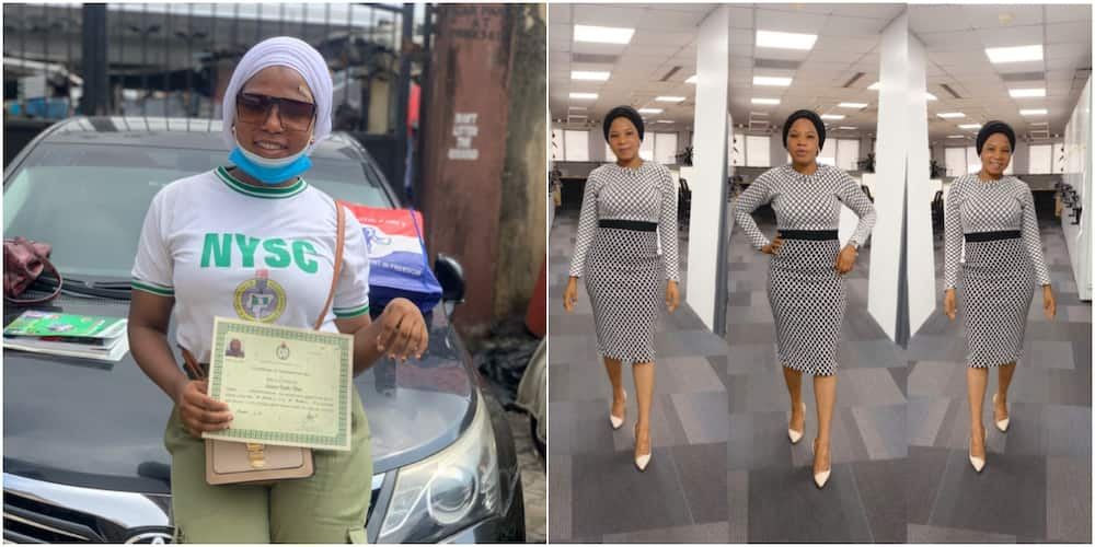 First class graduate pens heartfelt message to employer as she completes NYSC