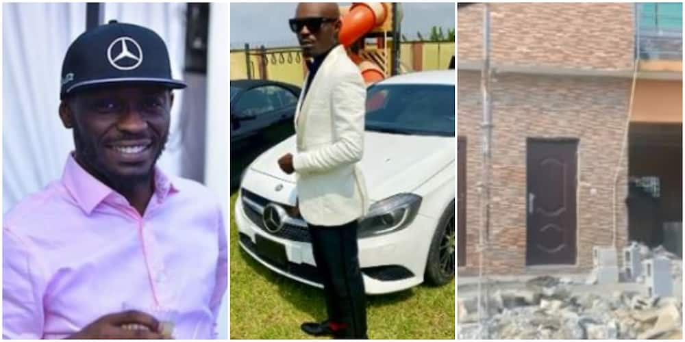 Comedian Mr Jollof reacts as people allegedly criticise him for selling car he recently won (video)