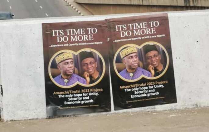 2023 election: Amaechi, Elrufai Campaign Posters Flood Abuja Streets