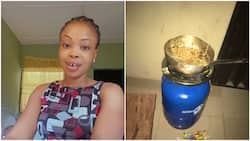Nigerian lady reacts after food she was cooking outside hostel room suddenly 'disappears'