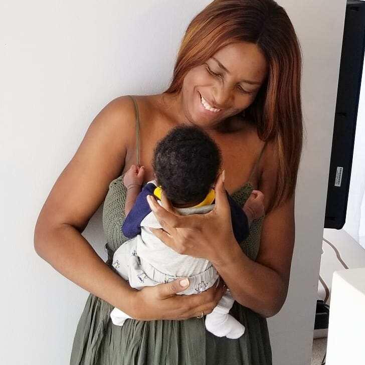 Linda Ikeji and her son