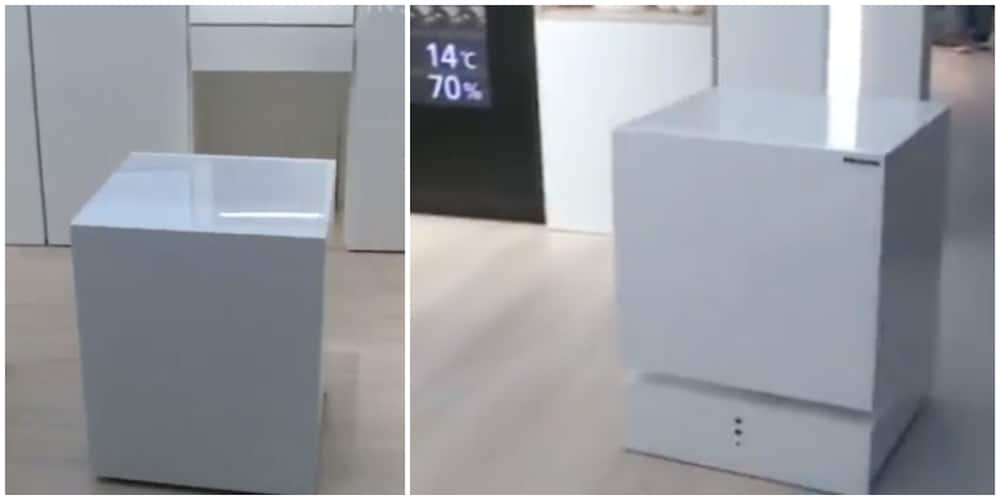 Laziness Being Encouraged, Nigerians React to Video of a Fridge that Drives to you When Called