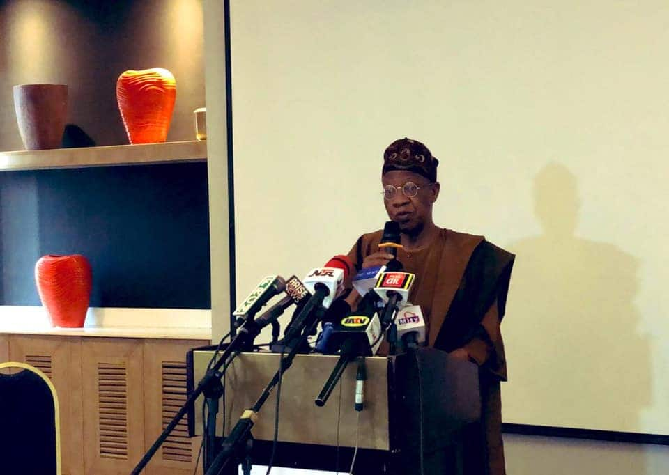 Lai Mohammed says Nigeria's security will improve in 2021