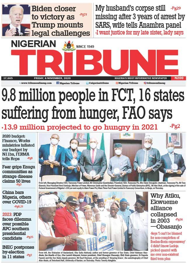 Newspaper review for Friday, November 6