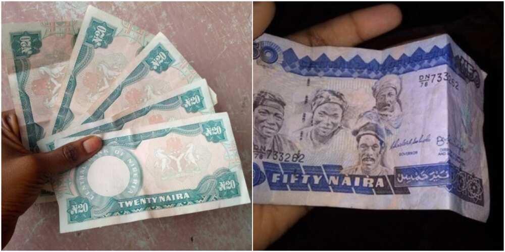 Lokacin da kudinmu ke da daraja: Yan Najeriya yi zazzafan martani yayin da hotunan tsoffin naira suka bayyana