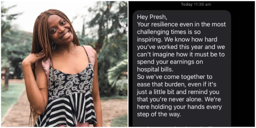 Lady shares how friends sent her N170k after she spent all her earnings on hospital bills