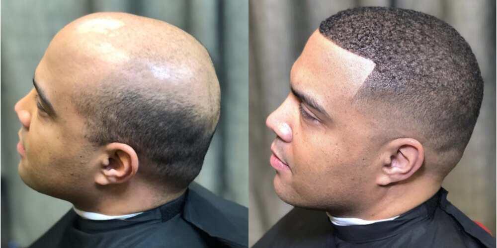 Men wearing wig