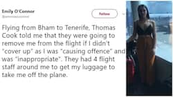 Lady cries out after she was almost kicked off a plane for dressing 'indecently'
