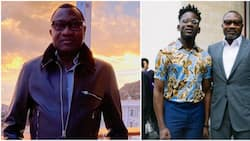 Father-in-law with a difference: Nigerians react as Femi Otedola celebrates Mr Eazi on 30th birthday