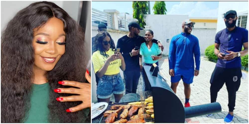 BBNaija: Housemates support Lucy's grill business (photo)