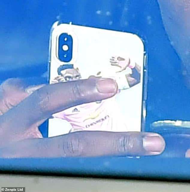 Paul Pogba shows off customised phone case ahead of Man United EPL clash against City