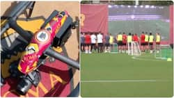 Jose Mourinho trains Roma players using incredible drone technology