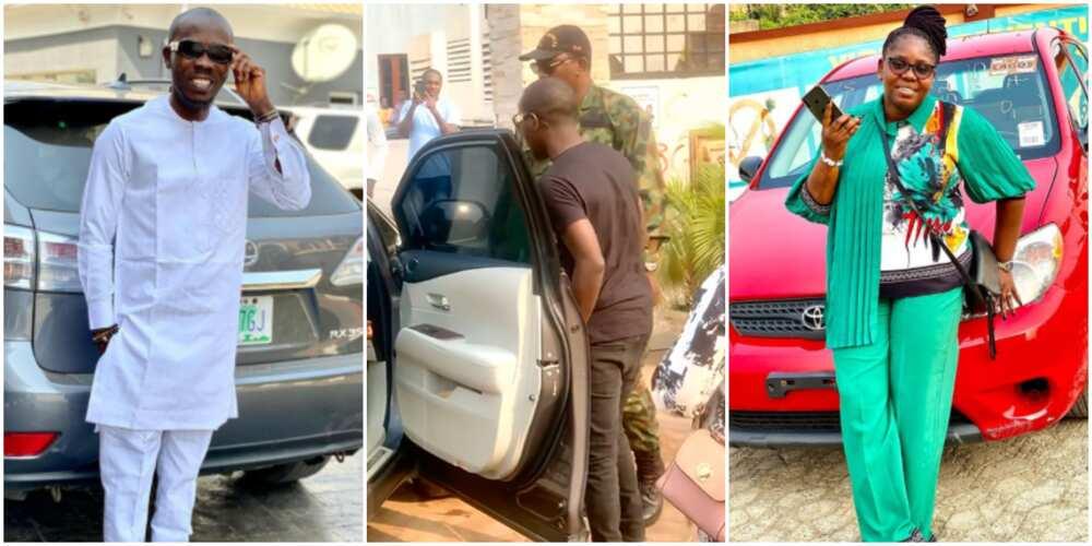 Yoruba actor Ijebu pranks his wife, gifts her a brand new car (photo, video)
