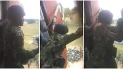 Drama as young Nigerian soldier refuses to jump during military training (video)
