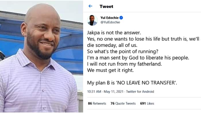 I'm sent by God to liberate his people: Yul Edochie advises Nigerians to stay in the country