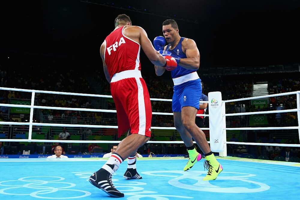 Tony Yoka lors d'un combat professionnel