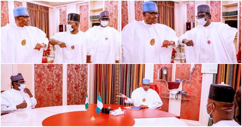 Buhari Meets APC Caretaker Chairman, Kogi Governor