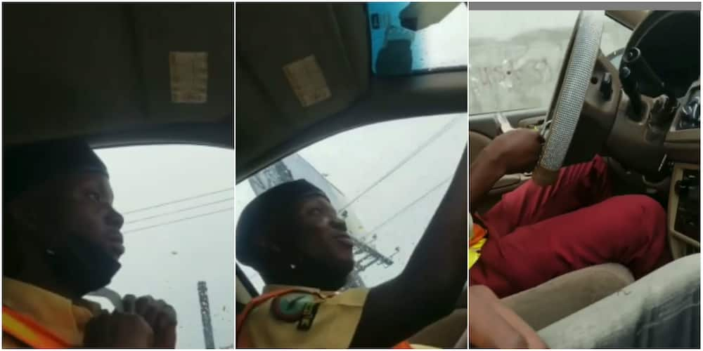 Huge reactions as LASTMA officer is caught taking bribe from motorist, revealing secrets of their operation