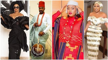 Style rush as Nigerian celebrities step out in amazing pieces for Lagos event (photos)