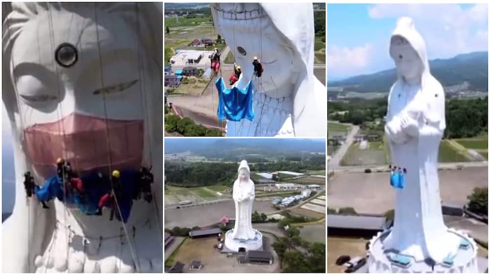 The statue is 187 feet high.