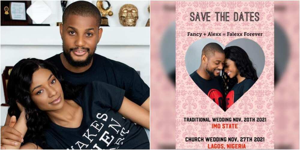 Actor Alex Ekubo and his fiancee