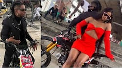 Lil Kesh poses with Iyabo Ojo's daughter in new photo, further fuels dating rumours