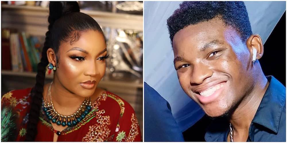 Actress Omotola Jalade and her son