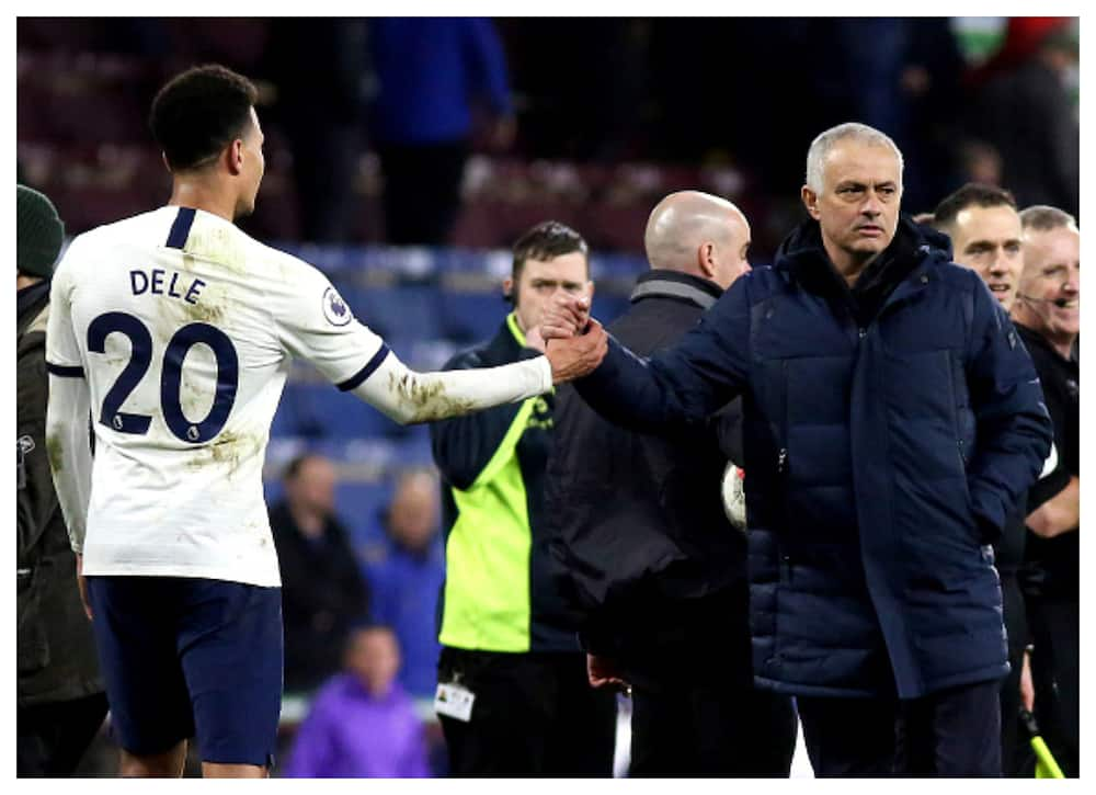 Jose Mourinho clashed with Dele Alli before Tottenham's defeat to Everton