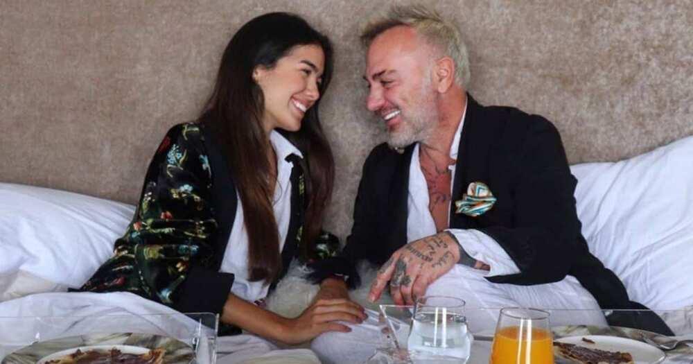 Italian Billionaire Gianluca Vacci's tattooed her man by herself.