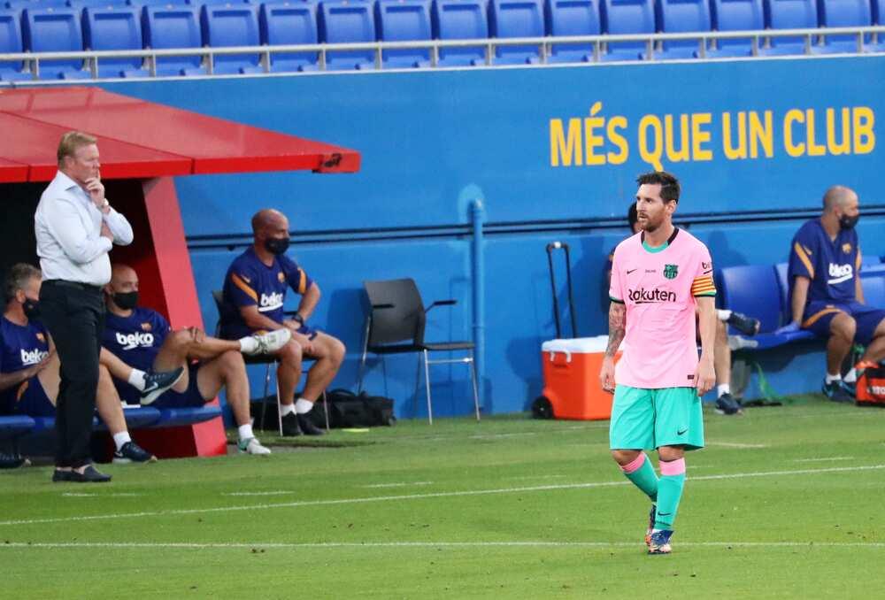 Ronald Koeman and Messi