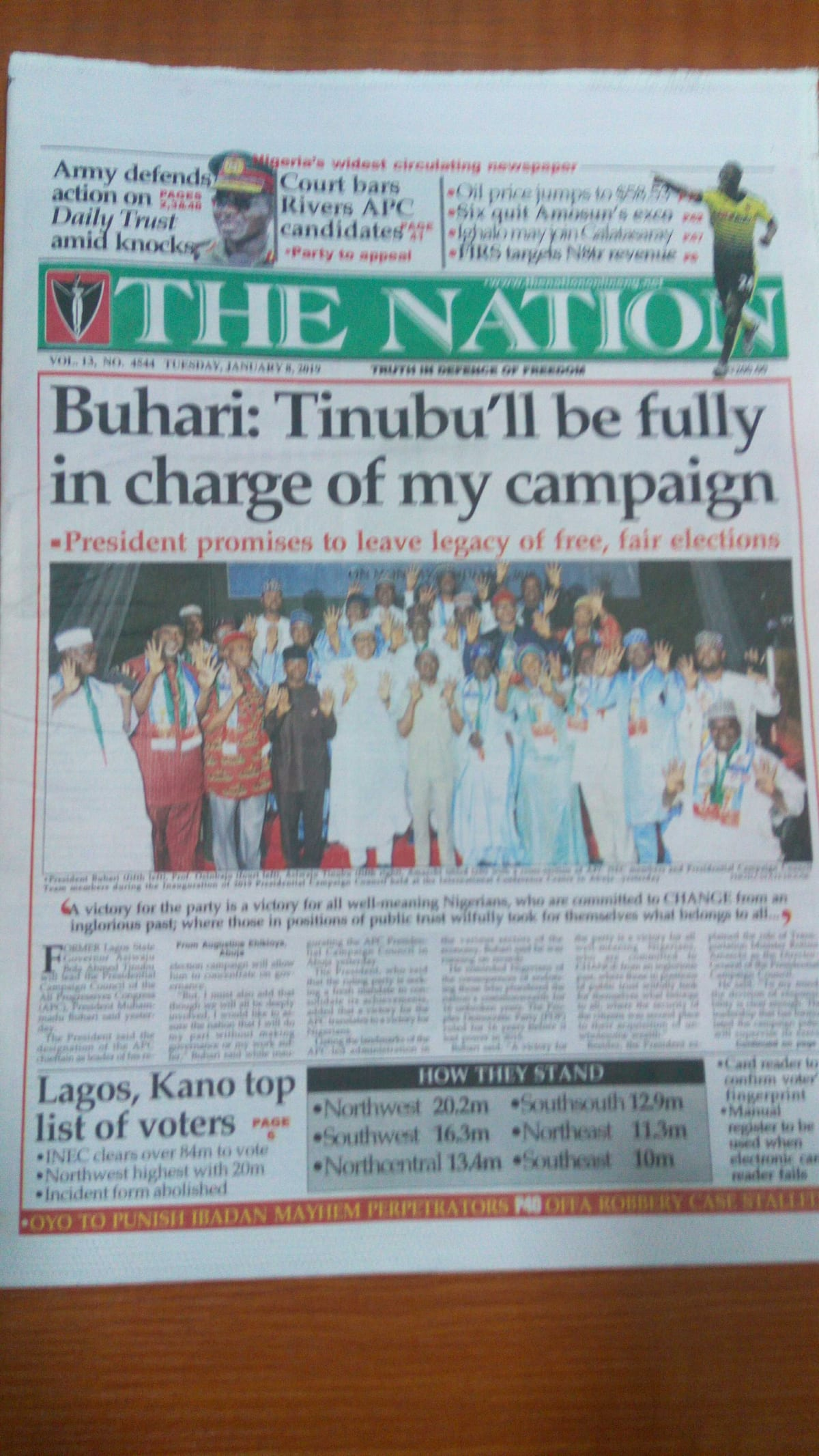 Newspaper review: Fulani groups divided over choice of presidential