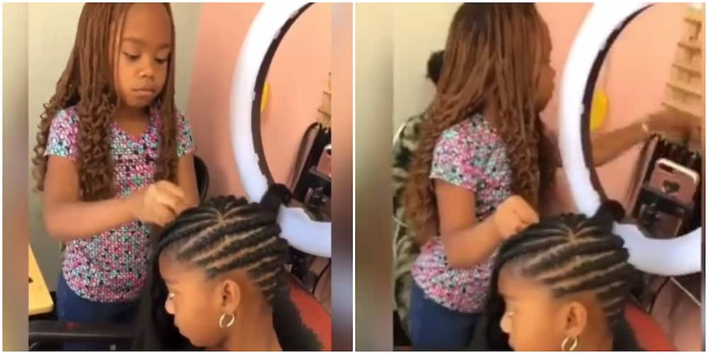 Lovely video of young girl plaiting the hair of another kid stuns social media