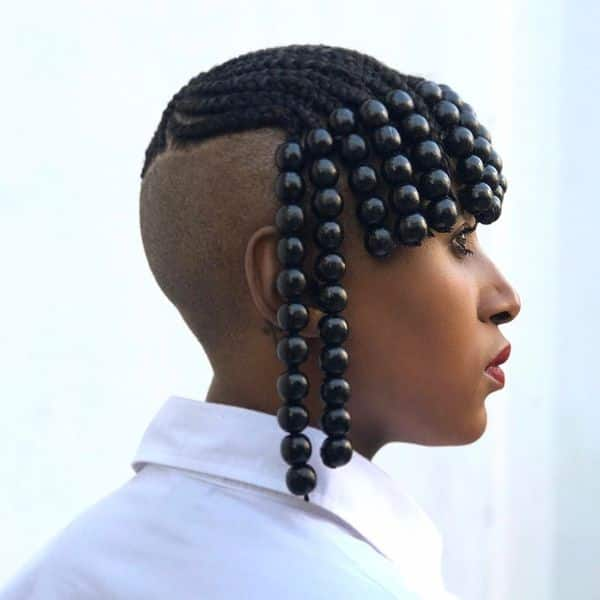 Braids with beads for short hair