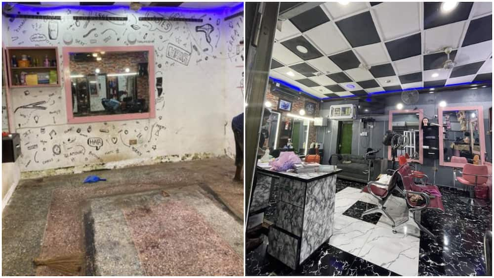 Nigerian man transforms salon with amazing skill, photos wows many