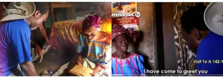 TB Joshua visits 142-year-old woman with gifts