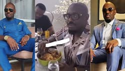Jim Iyke: Nollywood actor gets Ghanaians laughing as he struggles to eat 'fufu'