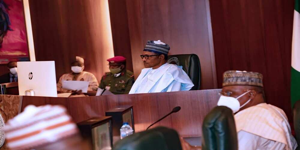 COVID-19: Buhari ya halarci taron ECOWAS ta yanar gizo (Hotuna)