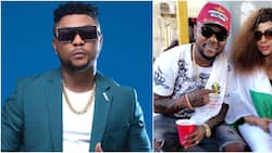 Don't beat her again - Fans warn Oritsefemi as he reconciles with wife (photo)