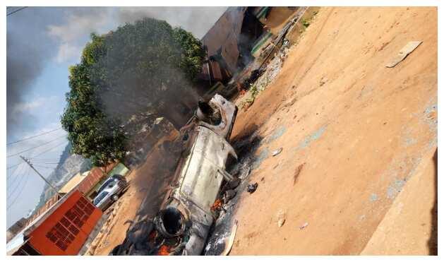 EndSARS: Hoodlums set Abuja police station on fire