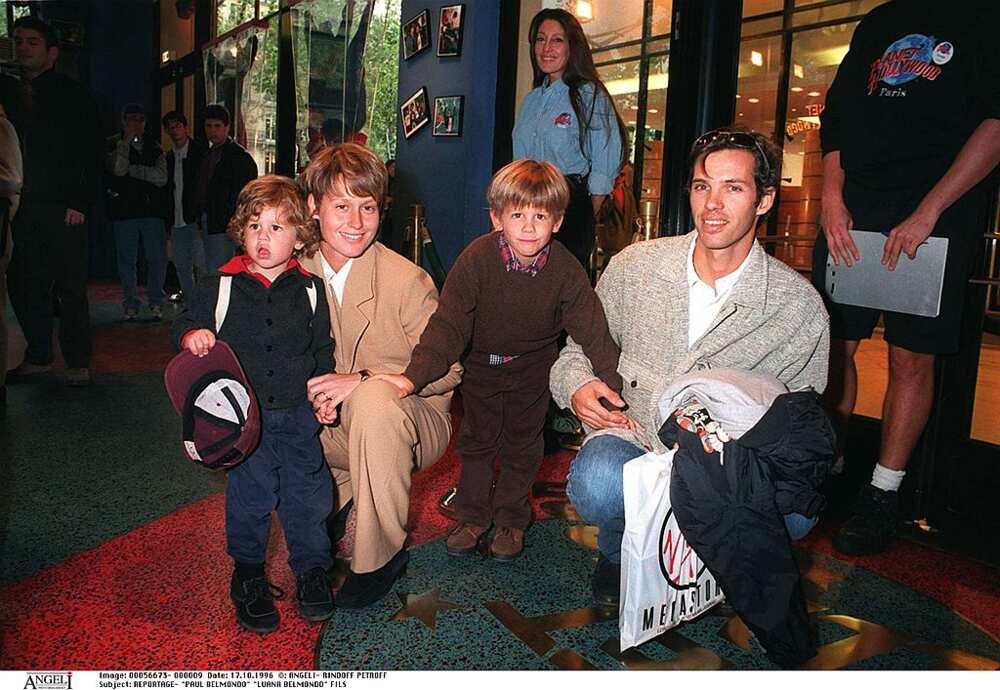 Luana Belmondo et sa famille