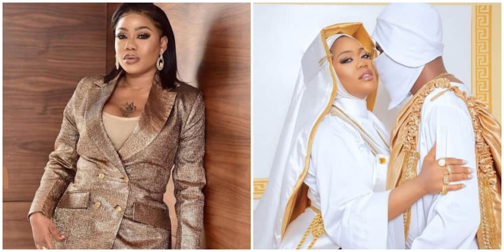 Designer Toyin Lawani Dons Provocative Nun Outfit for Movie Premier, Sparks Reactions
