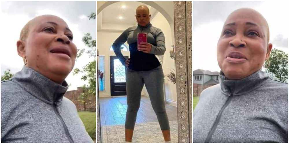 54-Year-Old Bukky Wright Hits the Gym Again After Months of Staying Away, Shares Video