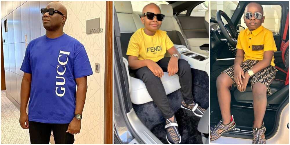 Social Media Big Boy Mompha Marks Son's 9th Birthday, Celebrant Drips in Designer Wears