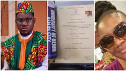 Nigerian man whose mum sold wrappers to send him to school thanks her in 12 languages, many react