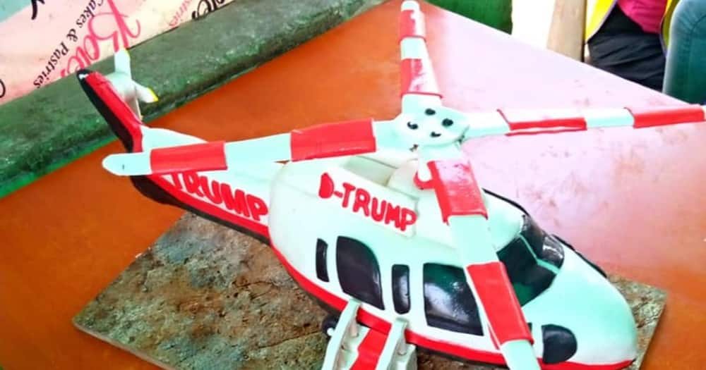 Man bakes cake resembling Donald Trump's helicopter